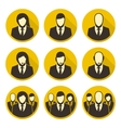 icons staff vector image