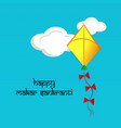 indian festival makar sankranti vector image vector image