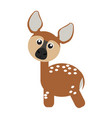 isolated cute deer vector image vector image