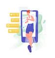 jogging athlete sprinter or sportsman walking out vector image vector image