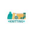 knitting flat style vector image