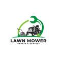 lawn mower repair service maintenance vector image vector image