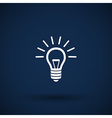 Light bulb icon lamp vector image