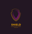 linear shield a symbol security and vector image