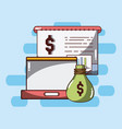 money and savings vector image vector image