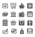 money finance shopping icons vector image