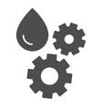 oil and gear solid icon automobile liquid