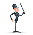 order law policeman 3d security protection cartoon vector image vector image