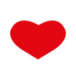 red heart icon heart icon in flat style heart vector image