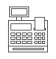 register machine isolated icon vector image vector image