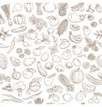 seamless background pattern organic farm fresh vector image vector image