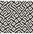 Seamless Black And White Maze Lines vector image vector image