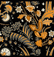 seamless floral pattern with decorative vector image vector image