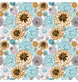 seamless pattern with chrysanthemums vector image vector image