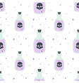 seamless pattern with magic bottle on white vector image vector image