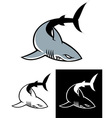 simple shark mascot vector image vector image