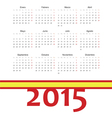 Simple spainish 2015 year calendar vector image vector image
