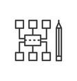 Sitemap - modern line design icon