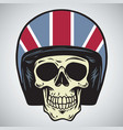 skulls with england motorcycle helmet vector image