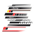 sports stripes car stickers racing decals vector image
