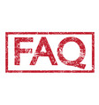 stamp faq word vector image