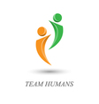 team humans logo design vector image