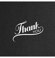 thank you retro label vector image