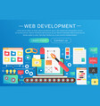 trendy flat gradient color web development vector image
