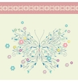 Vintage floral card background vector image