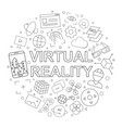 virtual reality pattern vector image vector image