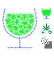 wine glass collage of weed leaves vector image