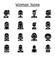 woman girl lady female mom icon set vector image vector image