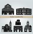 zadar landmarks vector image vector image