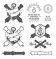 Set of vintage nautical labels and design elements vector image