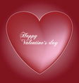 red valentines heart vector image