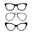 Set of classic glasses vector image
