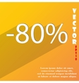 80 percent discount icon symbol Flat modern web vector image vector image