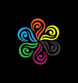 Abstract flower beauty logo