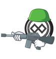 army tenx coin character cartoon vector image vector image