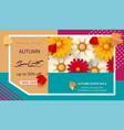 autumn flyer template with the inscription bright vector image