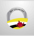 brunei my country flag badge vector image