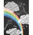 chalk sky vector image