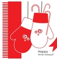 Christmass mittens vector image vector image