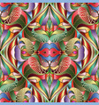 colorful bright abstract paisley seamless pattern vector image