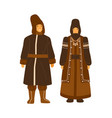 couple from yakutia or sakha republic wearing vector image vector image