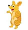 Cute armadillo cartoon presenting vector image vector image