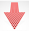 dotted down arrow in perspective vector image vector image