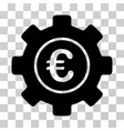 euro development gear icon vector image vector image