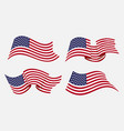flowing flat american flag vector image