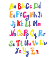 Funny font for kids vector image